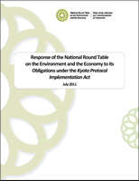 Report cover - 2011 Response of the NRTEE to its Obligations under the Kyoto Protocol Implementation Act