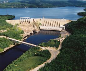 Manic 2 Hydroelectric installations (photo credit: Hydro-Québec)