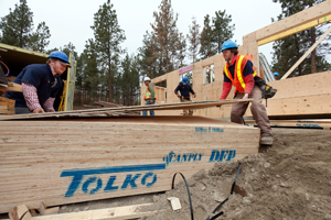 Habitat for Humanity project, Kelowna (photo credit: Tolko Industries Limited)