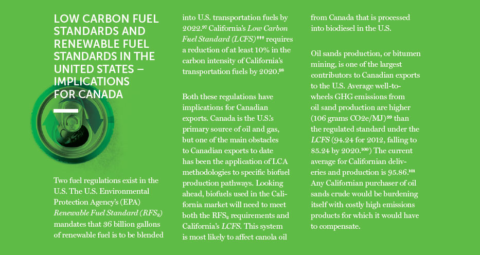Low Carbon Fuel Standards and Renewable Fuel Standards in the United States Implications for Canada