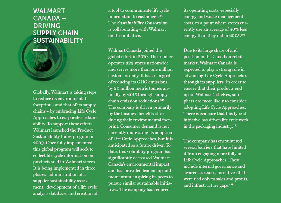 Walmart Canada Driving Supply Chain Sustainability